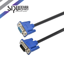 SIPU high quality vga cable vga 3+6 male to female